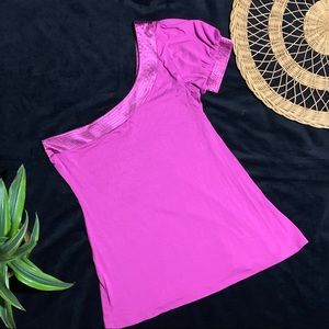 🌺 Arden B pink one shoulder top